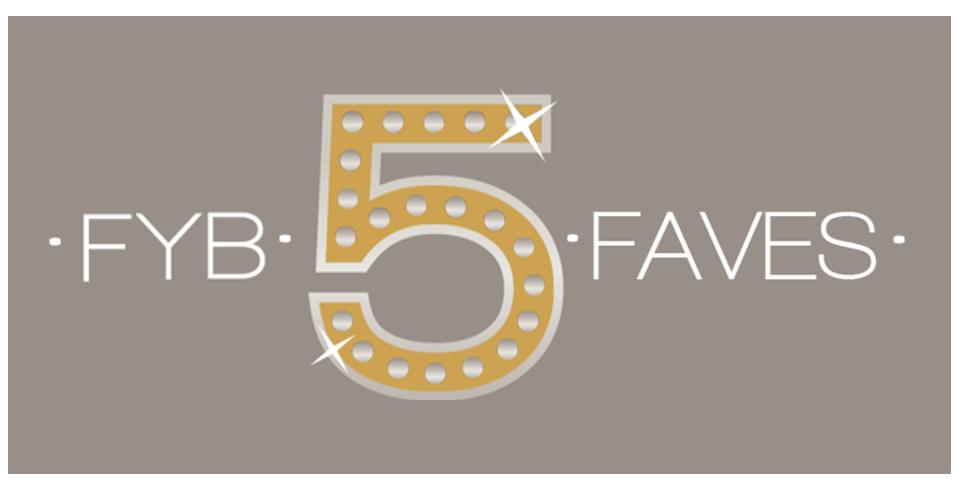 FYB 5 Faves logo in gold